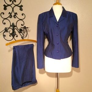 Pinstripe Jacket/Pant Suit By Dana Buchman